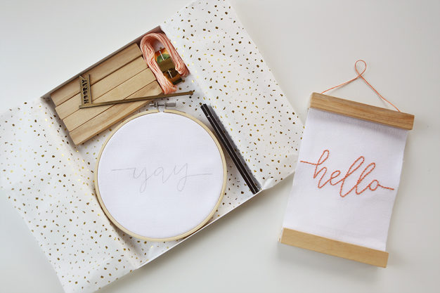 Embroidered Mini Banner Craft Kit